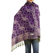 Purple Paisley Pashmina Shawl