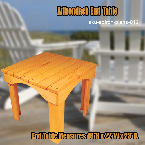 End table free shipping the original woodshop network for Adirondack side table plans