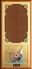 PET WOOD SCREEN DOOR #D809