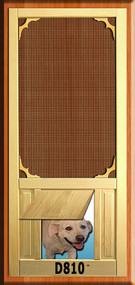 PET WOOD SCREEN DOOR #D810