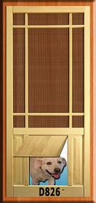 PET WOOD SCREEN DOOR #D826