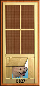 PET WOOD SCREEN DOOR #D827