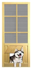 PET WOOD SCREEN DOOR #D828