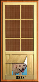 PET WOOD SCREEN DOOR #D828