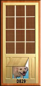 PET WOOD SCREEN DOOR #D829