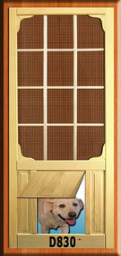 PET WOOD SCREEN DOOR #D830