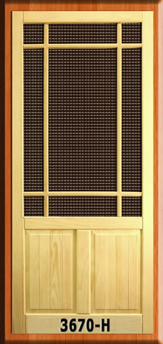Craftsman Style Wood Screen Door H Lg on Security Screen Door 32