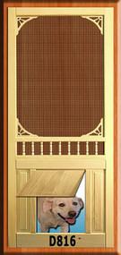 PET WOOD SCREEN DOOR #D816