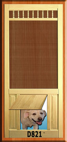 PET WOOD SCREEN DOOR #D821