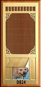 PET WOOD SCREEN DOOR #D824