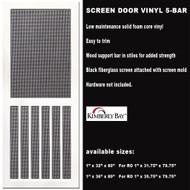 Vinyl Screen Door 5-Bar 32 x 80