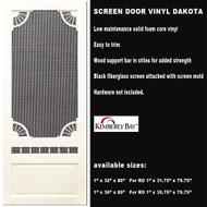 Vinyl Screen Door Dakota 36 x 80