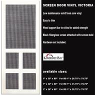Vinyl Screen Door Victoria 36 x 80