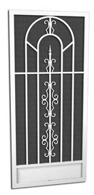 Julia Street Screen Door // O-260  5 Powder Coat Finishes  Attractive and Durable Powder Coat Finishes   Every PCA screen door is individually powder-coated by hand after assembly. This method ensures a beautiful, long lasting durable finish. SALT AIR CORROSION RESISTANT  PCA's powder coating provides a truly maintenance-free/rust-free finish even in the harsh salt air environments such as coastal areas.  In fact, the finish has been tested to exceed 4,000 hours of salt spray, which is up to 4 times the protection of baked on enamel paint.  AVAILABLE IN WHITE, IVORY, SANDSTONE, CLAY OR BRONZE   With a PCA screen door you have choices to match or complement the finish of your home.