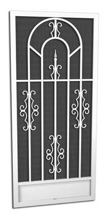 Sonesta Screen Door // O-300  5 Powder Coat Finishes  Attractive and Durable Powder Coat Finishes   Every PCA screen door is individually powder-coated by hand after assembly. This method ensures a beautiful, long lasting durable finish. SALT AIR CORROSION RESISTANT  PCA's powder coating provides a truly maintenance-free/rust-free finish even in the harsh salt air environments such as coastal areas.  In fact, the finish has been tested to exceed 4,000 hours of salt spray, which is up to 4 times the protection of baked on enamel paint.  AVAILABLE IN WHITE, IVORY, SANDSTONE, CLAY OR BRONZE   With a PCA screen door you have choices to match or complement the finish of your home.