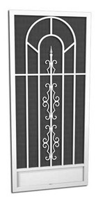 St. Charles Screen Door // O-270  5 Powder Coat Finishes  Attractive and Durable Powder Coat Finishes   Every PCA screen door is individually powder-coated by hand after assembly. This method ensures a beautiful, long lasting durable finish. SALT AIR CORROSION RESISTANT  PCA's powder coating provides a truly maintenance-free/rust-free finish even in the harsh salt air environments such as coastal areas.  In fact, the finish has been tested to exceed 4,000 hours of salt spray, which is up to 4 times the protection of baked on enamel paint.  AVAILABLE IN WHITE, IVORY, SANDSTONE, CLAY OR BRONZE   With a PCA screen door you have choices to match or complement the finish of your home.
