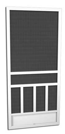 Laurel Hill - A300   5 Powder Coat Finishes FOUR TIMES THE PROTECTION OF BAKED-ON ENAMEL PAINT   Attractive and Durable Powder Coat Finishes   Every PCA screen door is individually powder-coated by hand after assembly. This method ensures a beautiful, long lasting durable finish. SALT AIR CORROSION RESISTANT  PCA's powder coating provides a truly maintenance-free/rust-free finish even in the harsh salt air environments such as coastal areas.  In fact, the finish has been tested to exceed 4,000 hours of salt spray, which is up to 4 times the protection of baked on enamel paint.  AVAILABLE IN WHITE, IVORY, SANDSTONE, CLAY OR BRONZE   With a PCA screen door you have choices to match or complement the finish of your home.