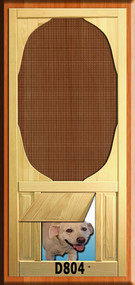 PET WOOD SCREEN DOOR #D804