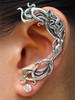 Wave Rider Mermaid Ear Wrap - Silver