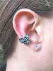 Silver Daisy Love Ear Cuff