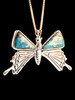 Large Turquoise Butterfly