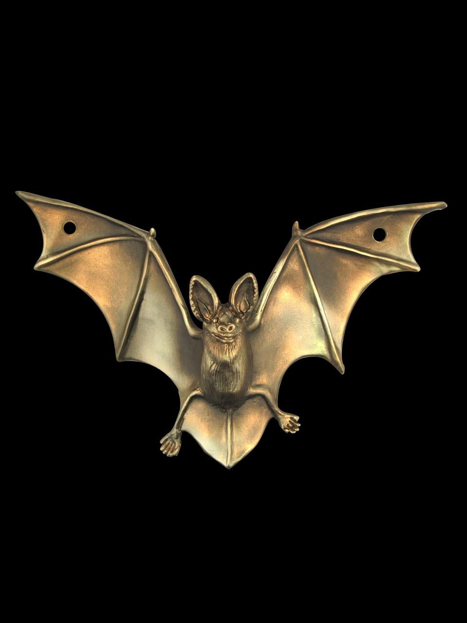 Bat Drawer Pull Sculpture Bronze Marty Magic Store