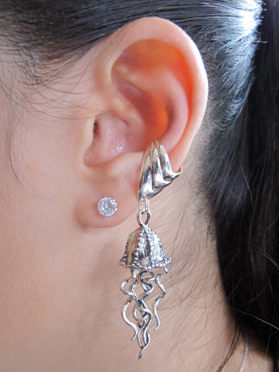 jellyfish ear cuff silver marty magic store. Black Bedroom Furniture Sets. Home Design Ideas