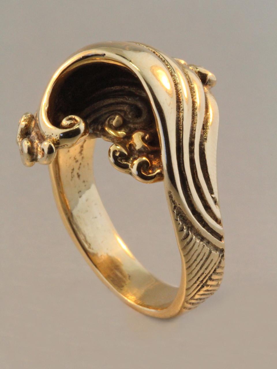Gold Mavericks Wave Ring 14k Gold Marty Magic Store
