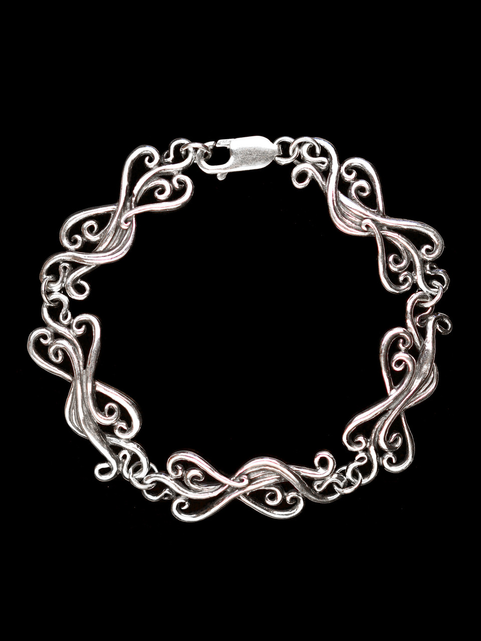 cascade waterfall link bracelet silver marty magic store