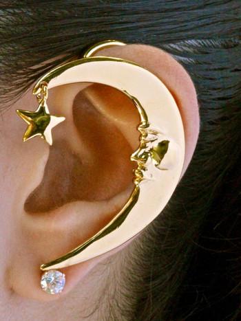 Crescent Moon Ear Wrap - Vermeil