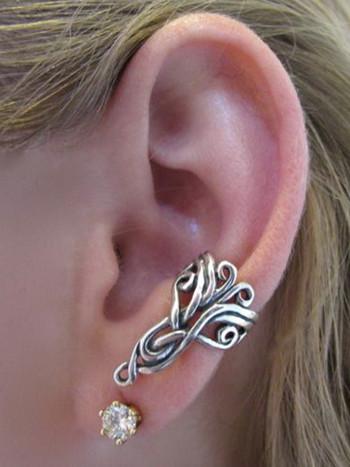 Arabesque Ear Cuff - Silver