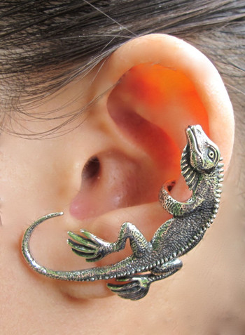 Iguana Ear Cuff - Silver