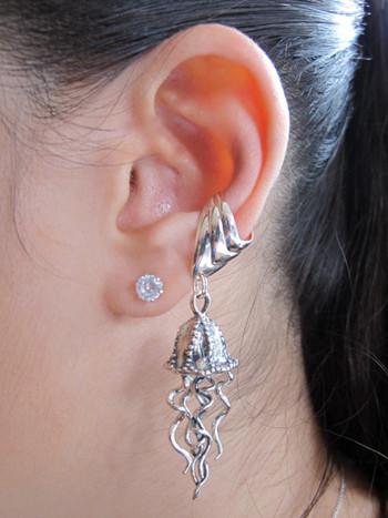Jellyfish Ear Cuff - Silver