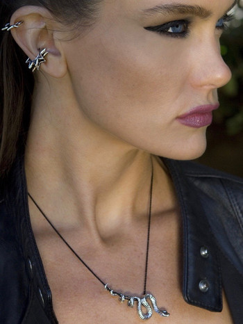 Ninja Star Ear Cuff - Bronze