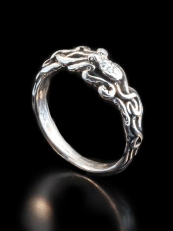 Tentacle Twist Ring in Sterling Silver