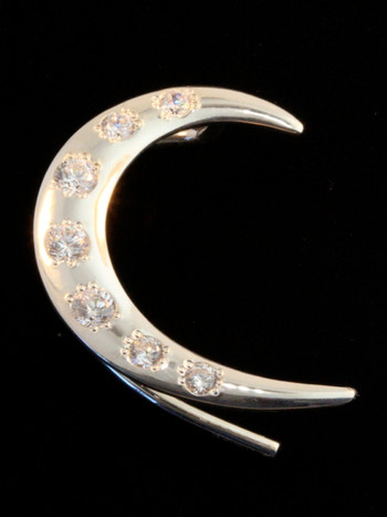 Right Crescent Ear Wrap with 7 CZ's