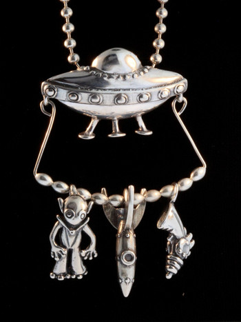 Small UFO Charm Collection - Silver