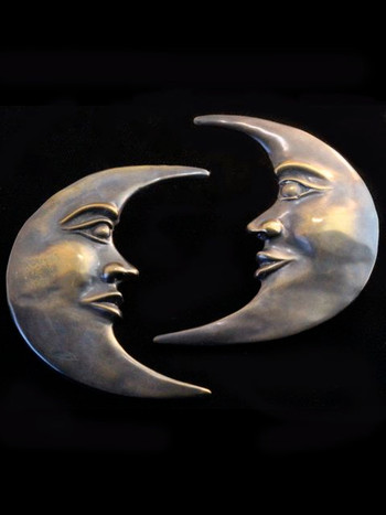 Moon Drawer Pulls - Bronze