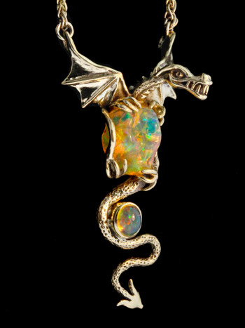 Fyresong Dragon Pendant -18k
