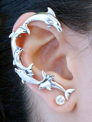 Dolphin Ear Wrap - Silver