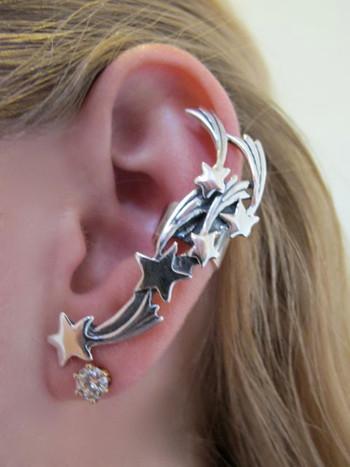 Comet Ear Cuff - Silver