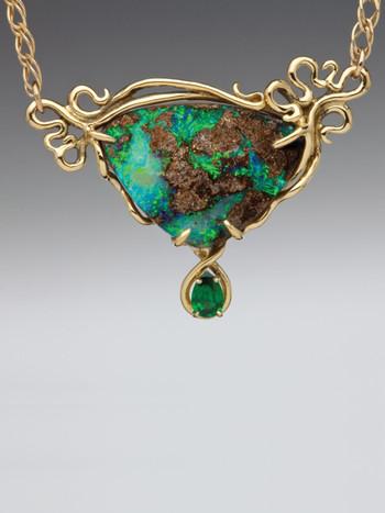 Ocean Reef Boulder Opal Pendant - SOLD