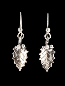 Christmas - Holly Leaf Earrings