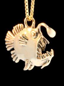 14k Gold Angler Fish