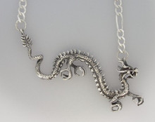 Sterling Silver Asian Dragon Pendant