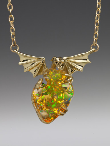 Mirage Mexican Fire Opal Dragon Jewelry