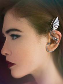 Silver Elfin Dragon Ear Wrap