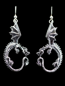 Oracle Dragon Earrings - Silver