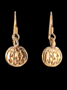 Jack-O-Lantern Earrings - Bronze