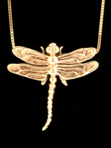 14k Gold Dragonfly Necklace